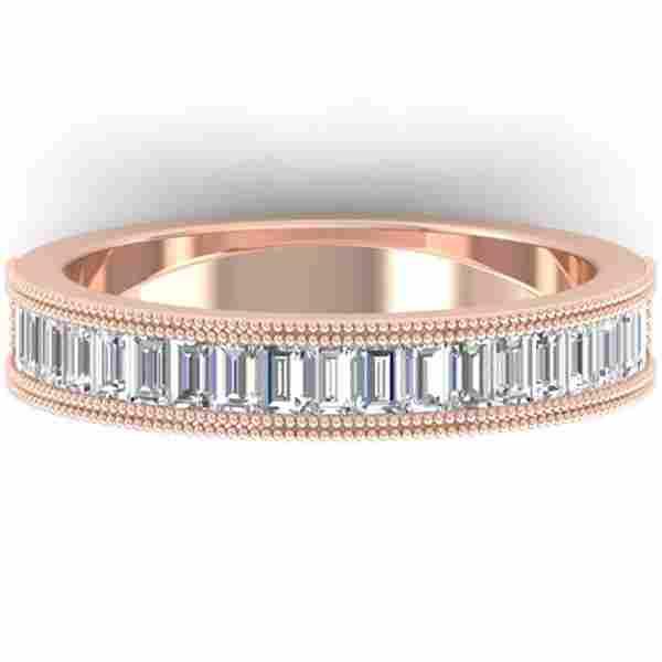 1 ctw Baguette VS/SI Diamond Art Deco Eternity Ring 14k