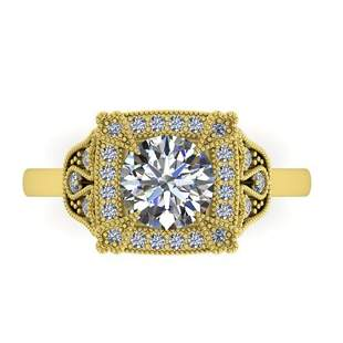 1.75 ctw Solitaire VS/SI Diamond Ring Art Deco 14k