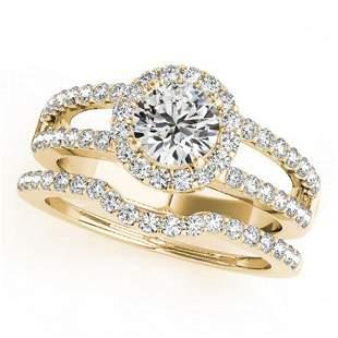 1.51 ctw Certified VS/SI Diamond 2pc Wedding Set Halo