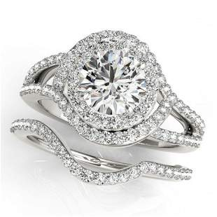 1.92 ctw Certified VS/SI Diamond 2pc Wedding Set Halo