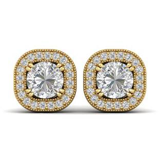 1.35 ctw Certified VS/SI Diamond Stud Micro Earrings