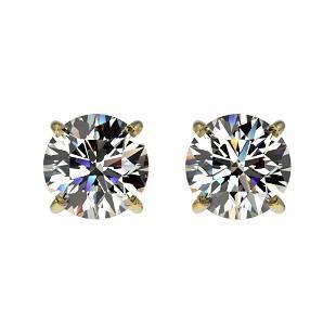 1.11 ctw Certified Quality Diamond Stud Earrings 10k