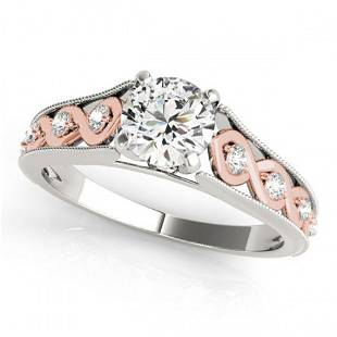 0.95 ctw Certified VS/SI Diamond Solitaire Ring 18k