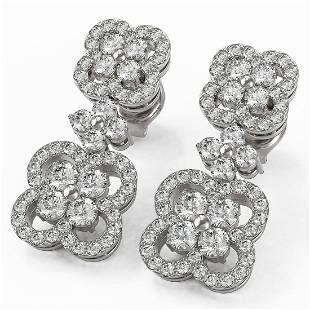 2.09 ctw Diamond Designer Earrings 18K White Gold -