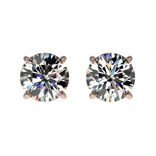1.04 ctw Certified Quality Diamond Stud Earrings 10k