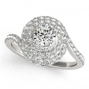 1.86 ctw Certified VS/SI Diamond Halo Ring 18k White