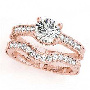 0.88 ctw Certified VS/SI Diamond 2pc Wedding Set