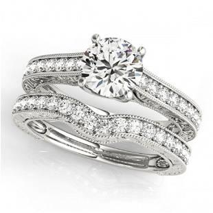 2.17 ctw Certified VS/SI Diamond 2pc Wedding Set 14k
