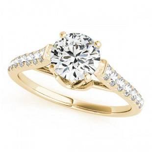 1 ctw Certified VS/SI Diamond Ring 18k Yellow Gold -