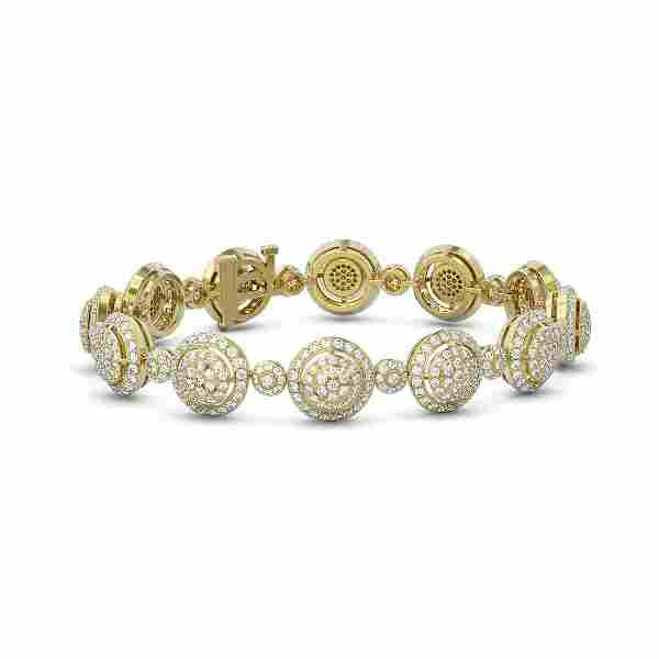 10.5 ctw Diamond Designer Bracelet 18K Yellow Gold -