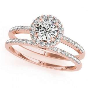 1.31 ctw Certified VS/SI Diamond 2pc Wedding Set Halo
