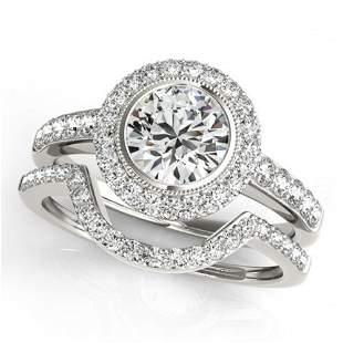 1.91 ctw Certified VS/SI Diamond 2pc Wedding Set Halo