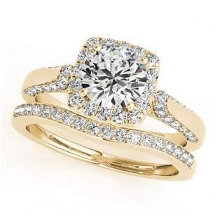 1.79 ctw Certified VS/SI Diamond 2pc Wedding Set Halo