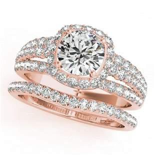 2.19 ctw Certified VS/SI Diamond 2pc Wedding Set Halo
