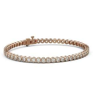 7 ctw Diamond Designer Bracelet 18K Rose Gold -