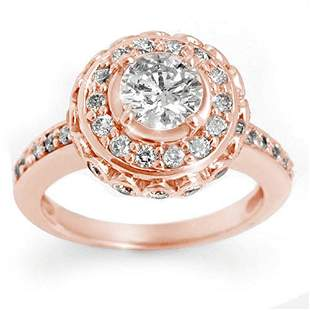 2.04 ctw Certified VS/SI Diamond Ring 14k Rose Gold -