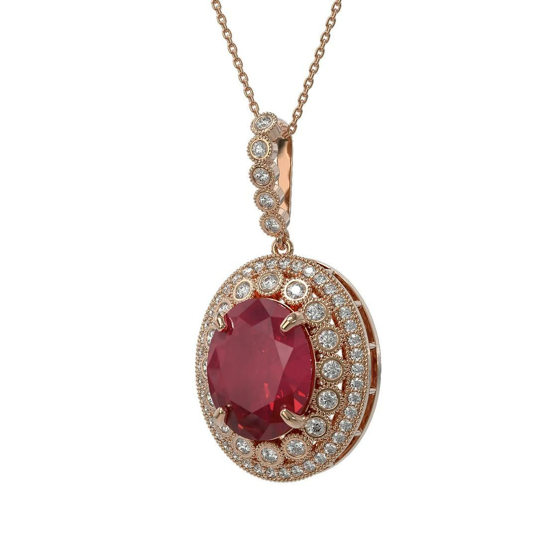 13.75 ctw Certified Ruby & Diamond Victorian Necklace