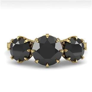 2 ctw Past Present Future Black Diamond Ring Vintage