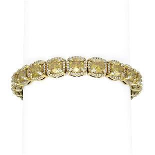 32.82 ctw Canary Citrine & Diamond Bracelet 18K Yellow