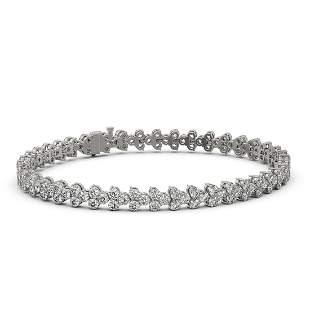 9 ctw Diamond Designer Bracelet 18K White Gold -