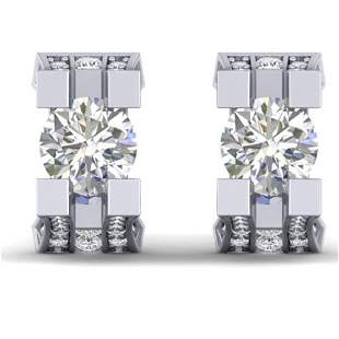 2.25 ctw VS/SI Diamond Art Deco Stud Micro Pave