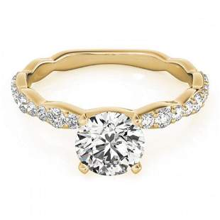 1.4 ctw Certified VS/SI Diamond Ring 18k Yellow Gold -
