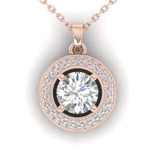 1.1 ctw Certified VS/SI Diamond Micro Stud Necklace 14k