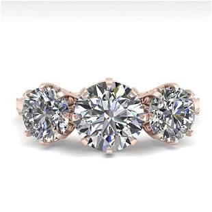 2 ctw Past Present Future Certified VS/SI Diamond Ring