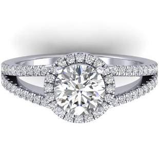 2 ctw Certified VS/SI Diamond Solitaire Micro Halo Ring