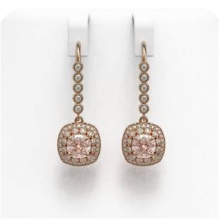 4.3 ctw Certified Morganite & Diamond Victorian