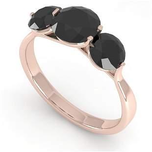 2 ctw Past Present Future Black Diamond Ring Martini