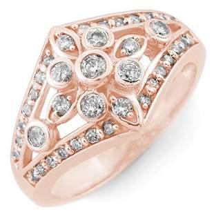 0.75 ctw Certified VS/SI Diamond Ring 14k Rose Gold -
