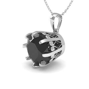1.50 ctw Black Certified Diamond Necklace Vintage 18k