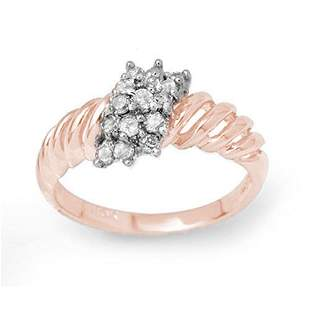 0.25 ctw Certified VS/SI Diamond Ring 14k Rose Gold -