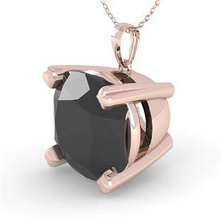 6.0 ctw Cushion Black Diamond Designer Necklace 14k