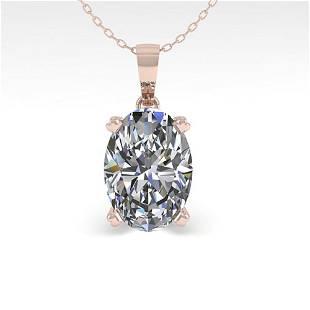 0.50 ctw VS/SI Oval Diamond Designer Necklace 14k Rose