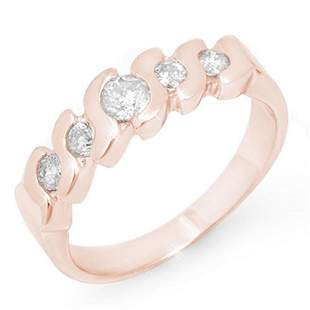 0.50 ctw Certified VS/SI Diamond Ring 14k Rose Gold -