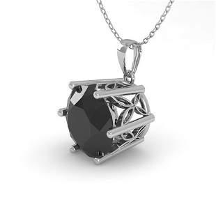 1 ctw Black Certified Diamond Art Deco Necklace 14k