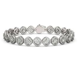 9.94 ctw Cushion Cut Diamond Micro Pave Bracelet 18K