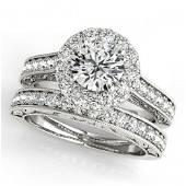 2.63 ctw Certified VS/SI Diamond 2pc Wedding Set Halo