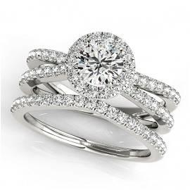 1.78 ctw Certified VS/SI Diamond 2pc Wedding Set Halo