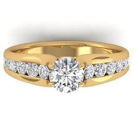 1.37 ctw Certified VS/SI Diamond Solitaire Ring 14k