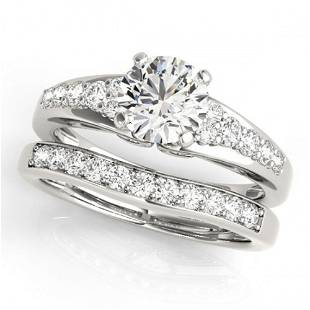 1.5 ctw Certified VS/SI Diamond 2pc Wedding Set 14k