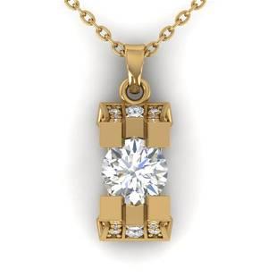 1.15 ctw VS/SI Diamond Art Deco Stud Necklace 14k