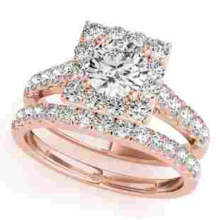 2.79 ctw Certified VS/SI Diamond 2pc Wedding Set Halo