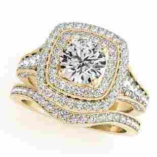 1.93 ctw Certified VS/SI Diamond 2pc Wedding Set Halo
