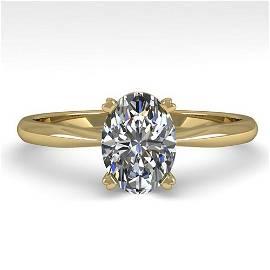 1.01 ctw Oval Cut VS/SI Diamond Engagment Designer Ring