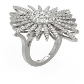 3.1 ctw Diamond Ring 18K White Gold - REF-274A8N