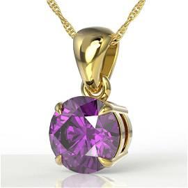 2 ctw Amethyst Designer Necklace 18k Yellow Gold -