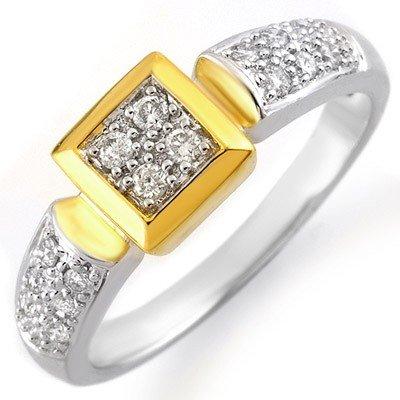 Natural 0.38 ctw Diamond Ring 10K Multi tone Gold - Ret